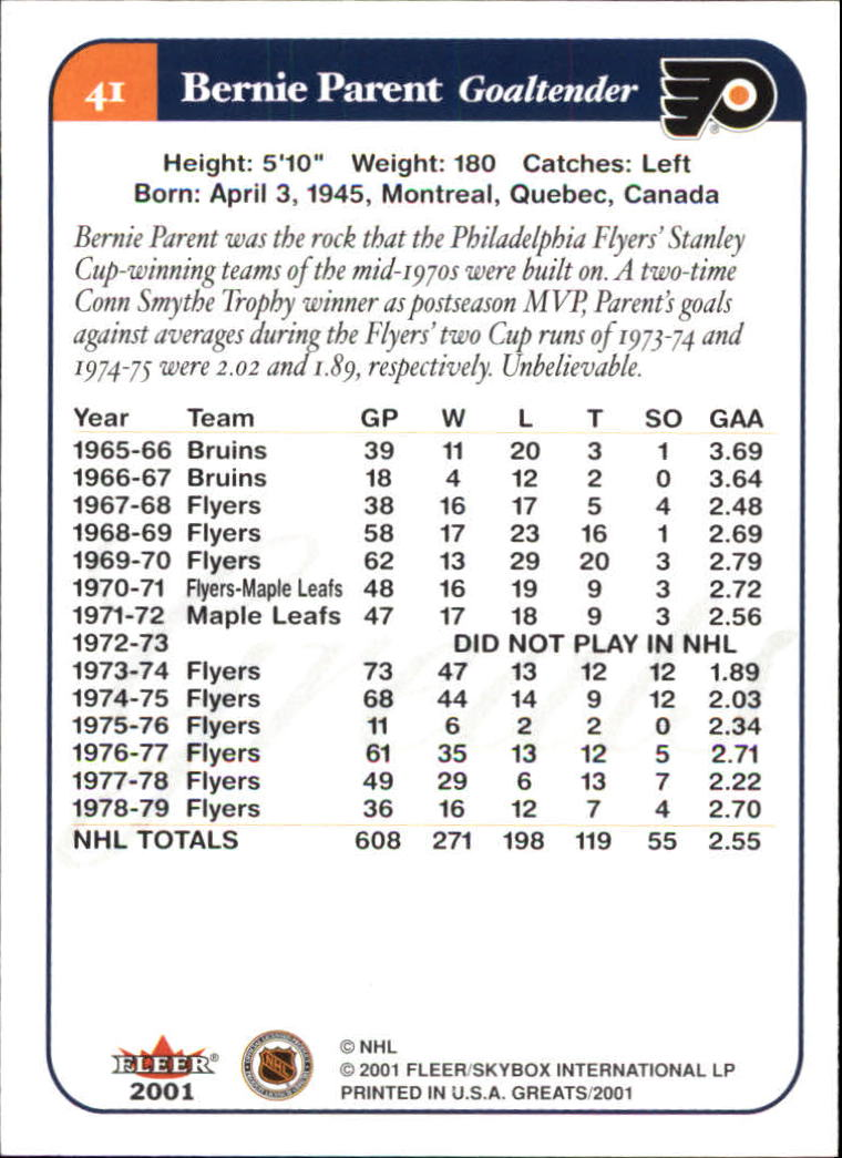 2001-02-Greats-of-the-Game-Hockey-1-100-Your-Choice-GOTBASEBALLCARDS thumbnail 65