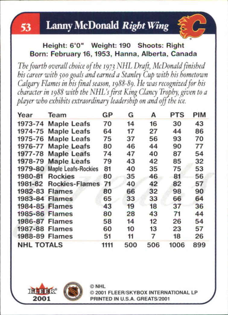 2001-02-Greats-of-the-Game-Hockey-1-100-Your-Choice-GOTBASEBALLCARDS thumbnail 79