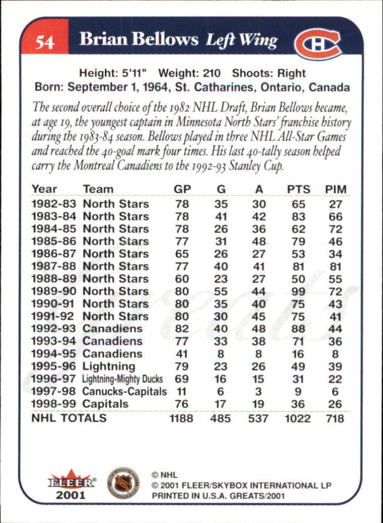 2001-02-Greats-of-the-Game-Hockey-1-100-Your-Choice-GOTBASEBALLCARDS thumbnail 81