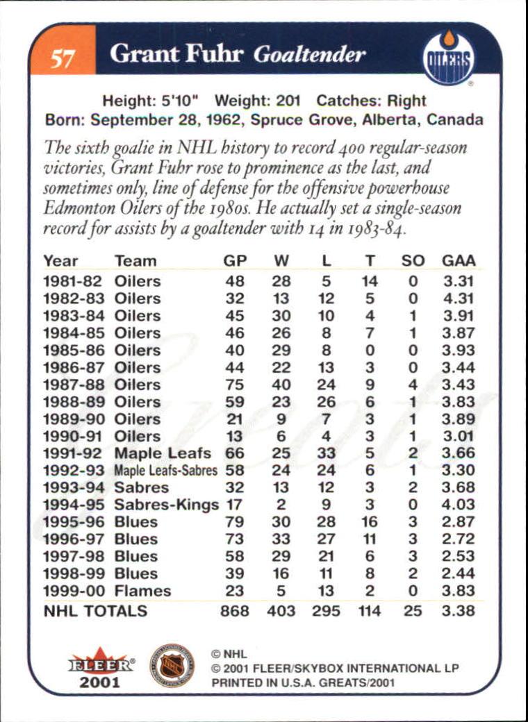 2001-02-Greats-of-the-Game-Hockey-1-100-Your-Choice-GOTBASEBALLCARDS thumbnail 87