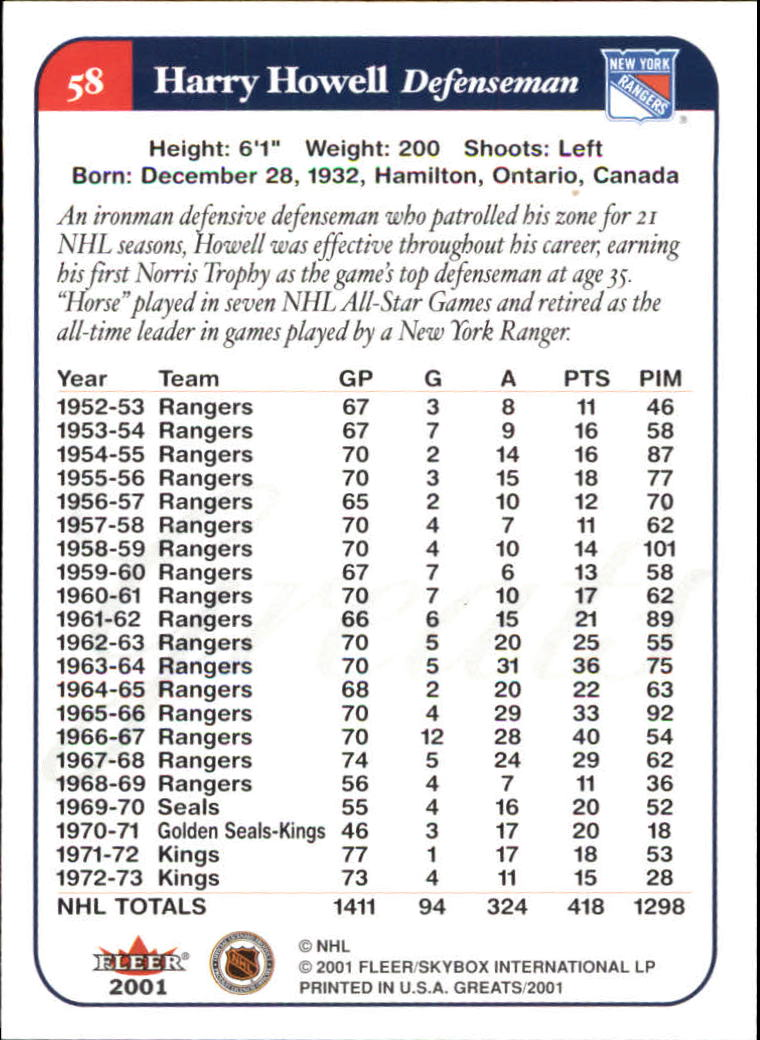 2001-02-Greats-of-the-Game-Hockey-1-100-Your-Choice-GOTBASEBALLCARDS thumbnail 89