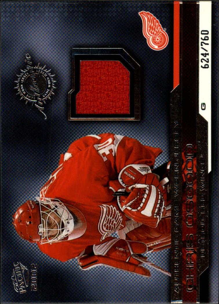 2001-02 Pacific Jerseys #14 Chris Osgood/760