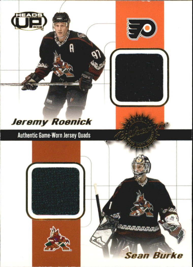 2001-02 Pacific Heads Up Quad Jerseys #16 Jeremy Roenick/Sean Burke/Mika Alatalo/Shane Doan