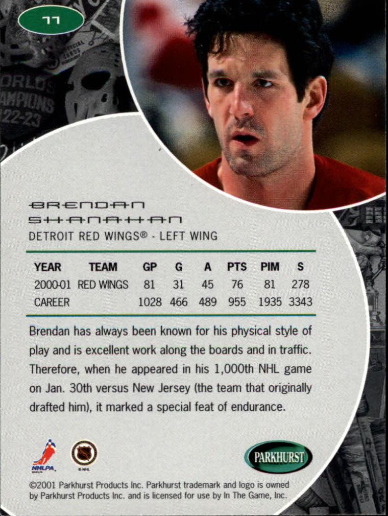 2001-02 Parkhurst #11 Brendan Shanahan back image
