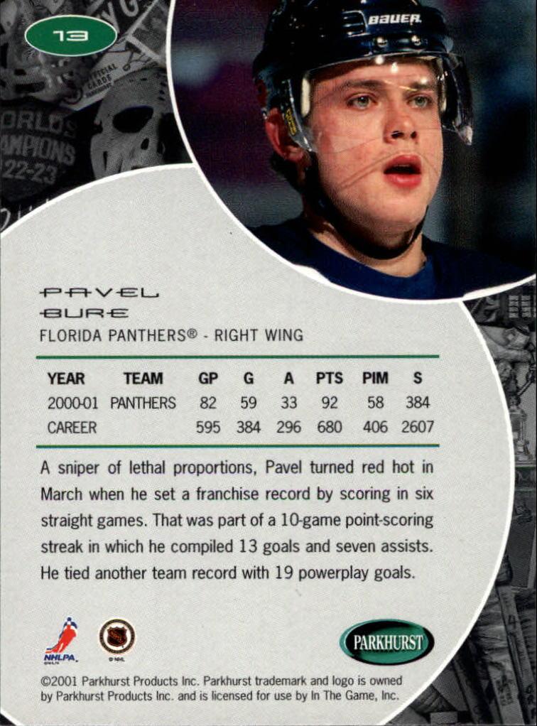 2001-02 Parkhurst #13 Pavel Bure back image