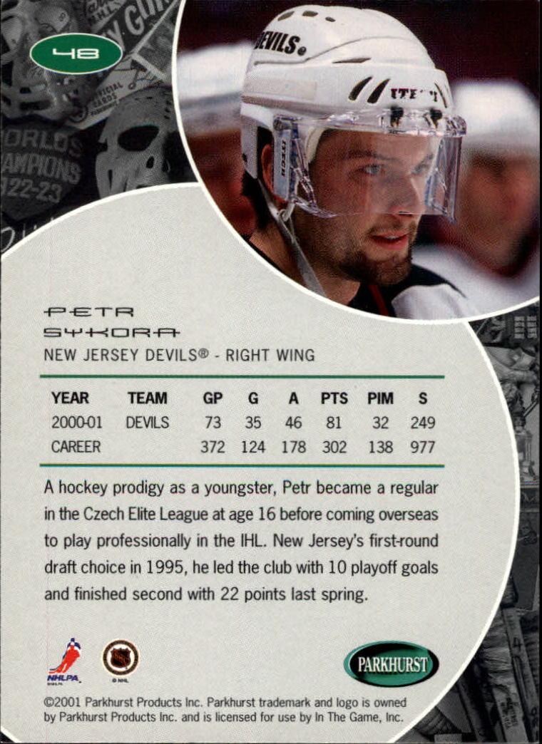 2001-02 Parkhurst #48 Petr Sykora back image