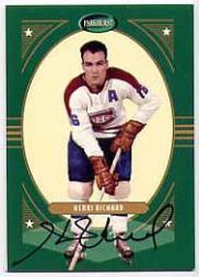 2001-02 Parkhurst Autographs #PA11 Henri Richard/90