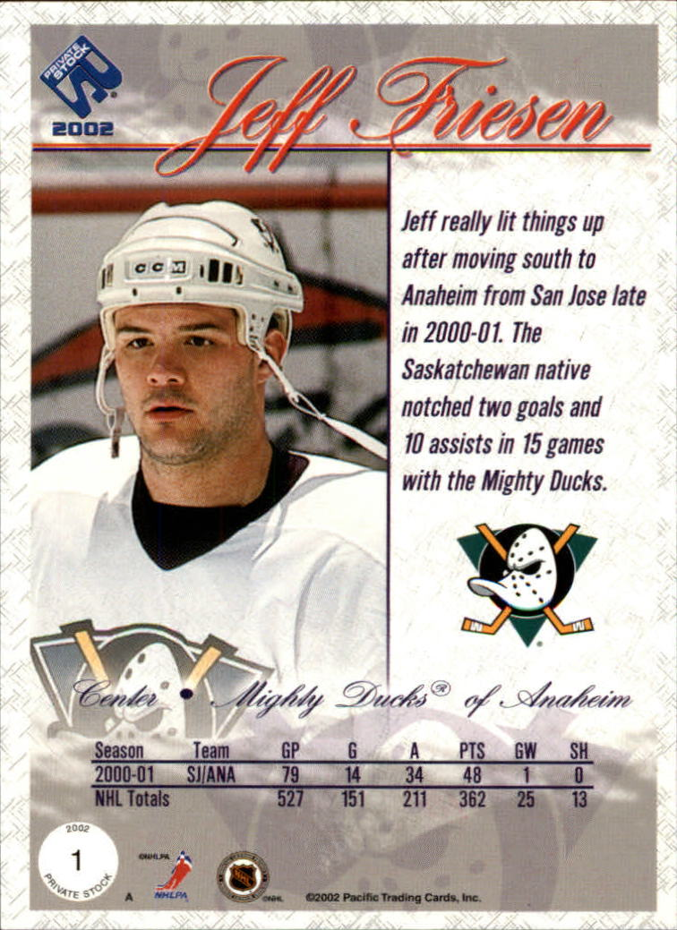 2001-02-Private-Stock-Hockey-Cards-Pick-From-List miniature 3