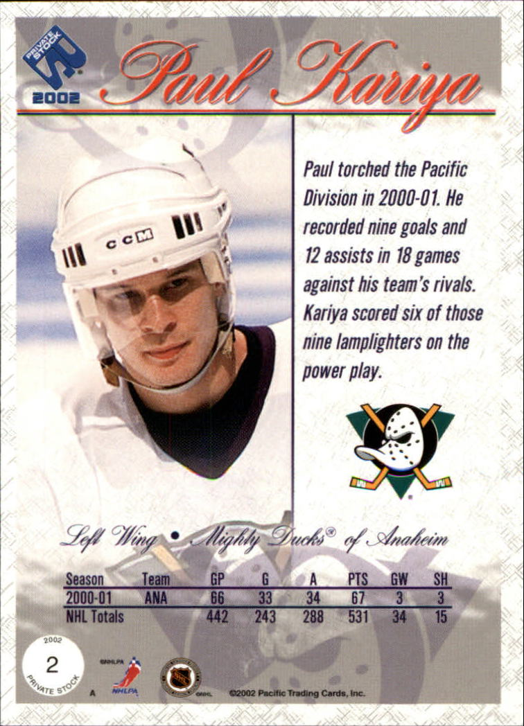 2001-02-Private-Stock-Hockey-Cards-Pick-From-List miniature 5