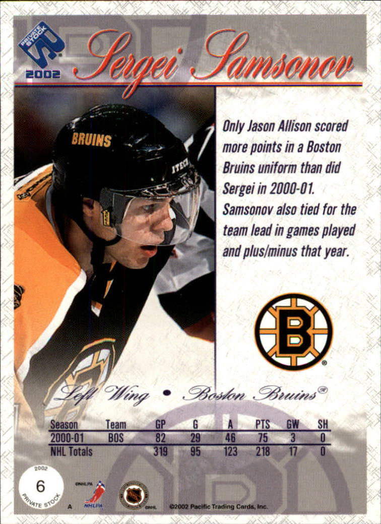 2001-02-Private-Stock-Hockey-Cards-Pick-From-List miniature 11