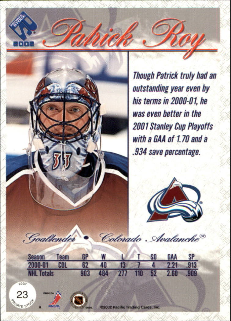 2001-02-Private-Stock-Hockey-Cards-Pick-From-List miniature 35