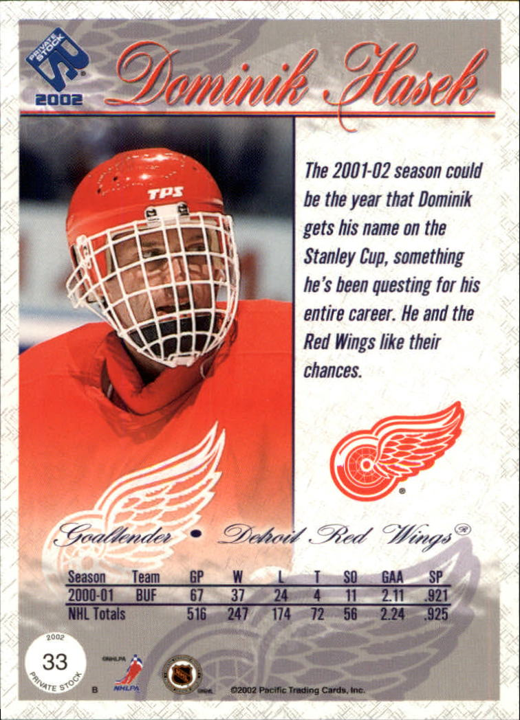 2001-02-Private-Stock-Hockey-Cards-Pick-From-List miniature 53