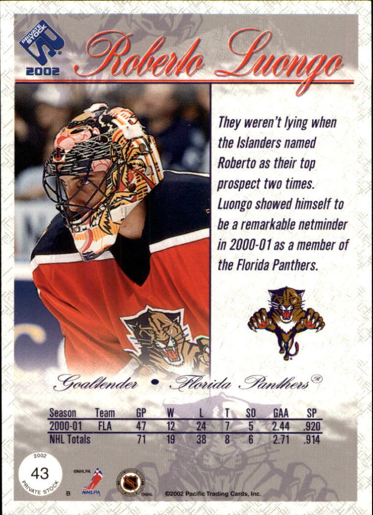 2001-02-Private-Stock-Hockey-Cards-Pick-From-List miniature 73