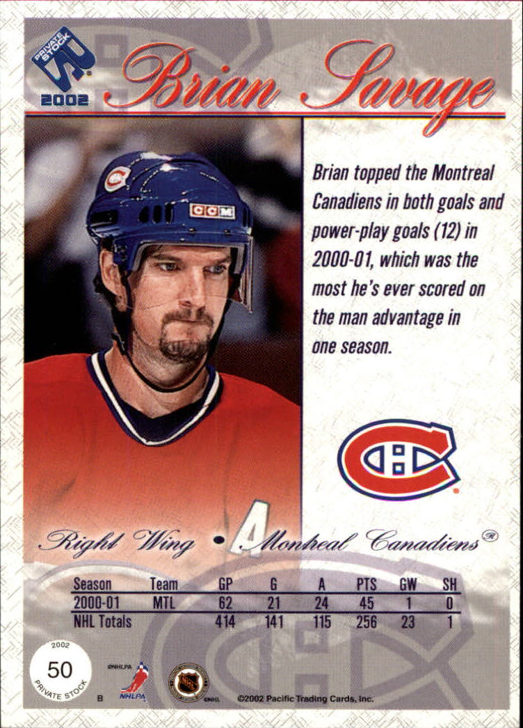 2001-02-Private-Stock-Hockey-Cards-Pick-From-List miniature 85