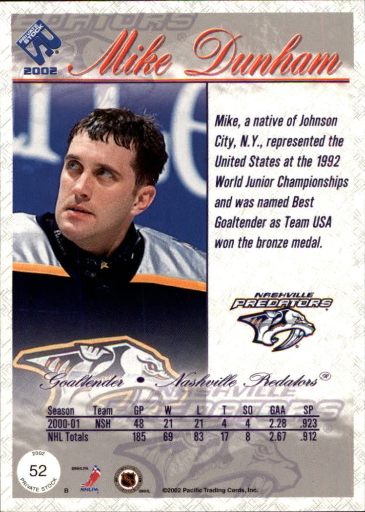 2001-02-Private-Stock-Hockey-Cards-Pick-From-List miniature 89
