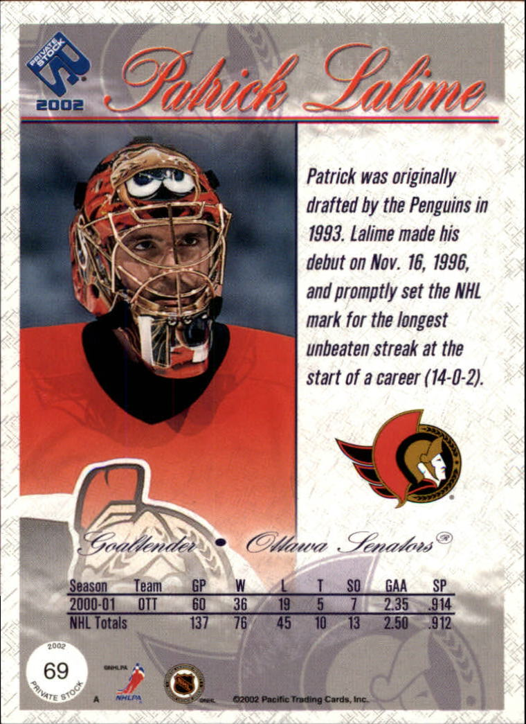 2001-02-Private-Stock-Hockey-Cards-Pick-From-List miniature 119