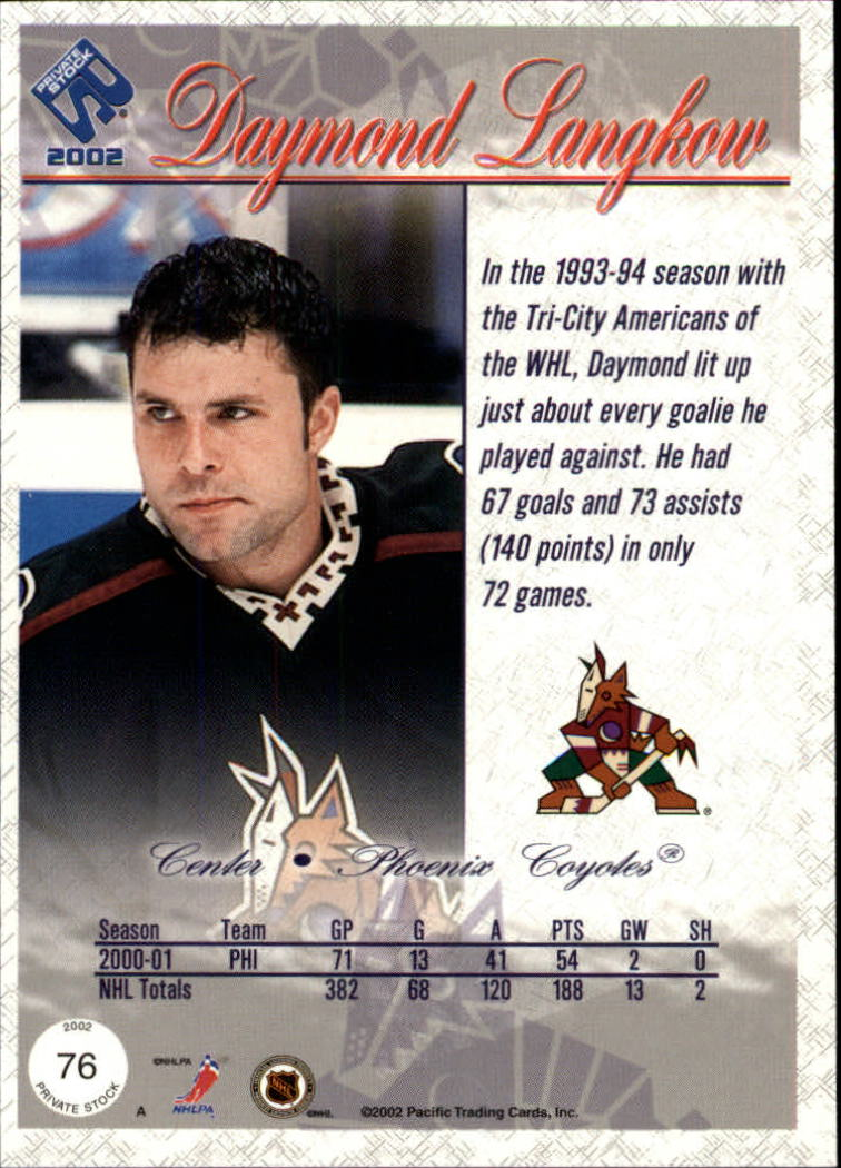 2001-02-Private-Stock-Hockey-Cards-Pick-From-List miniature 129