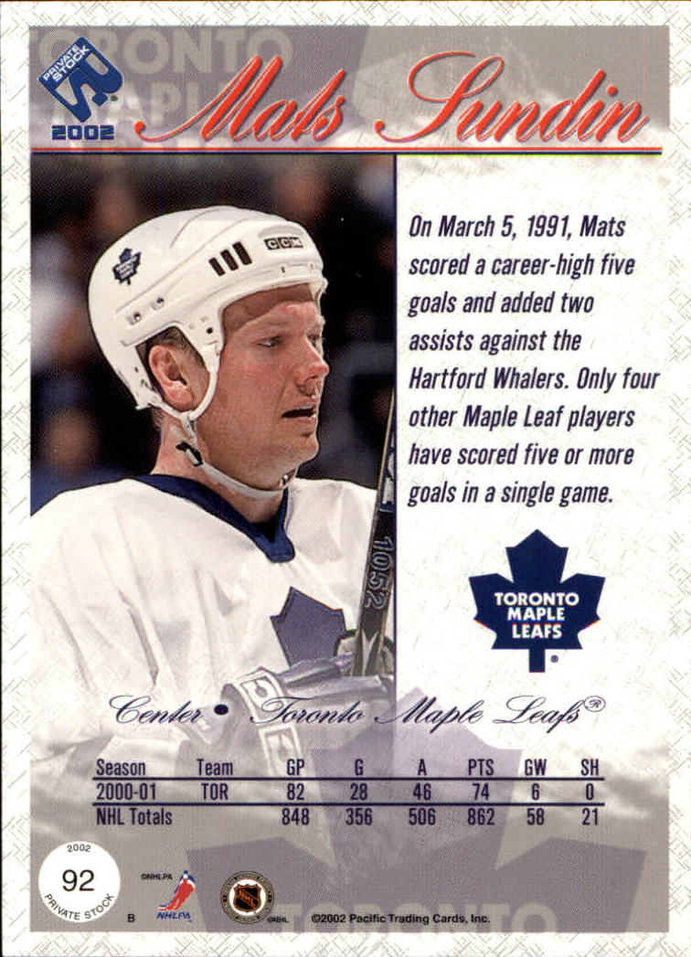 2001-02-Private-Stock-Hockey-Cards-Pick-From-List miniature 159
