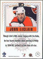 2001-02 Private Stock Game Gear Patches #71 John LeClair back image