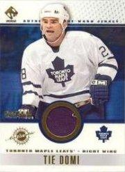 2001-02 Private Stock Game Gear Patches #94 Tie Domi