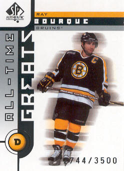 2001-02 SP Authentic #92 Ray Bourque ATG
