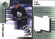 2001-02 SP Authentic Jerseys #NNTD Tie Domi/1620