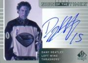 2001-02 SP Authentic Sign of the Times #DH Dany Heatley