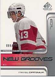 2001-02 SP Game Used #75 Pavel Datsyuk RC