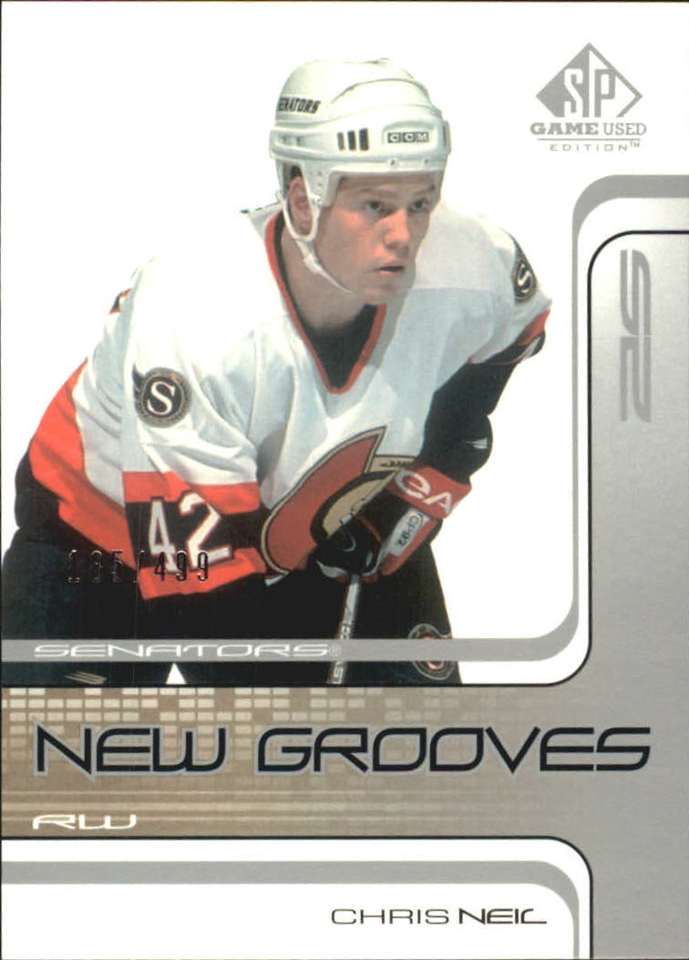 2001-02 SP Game Used #91 Chris Neil RC
