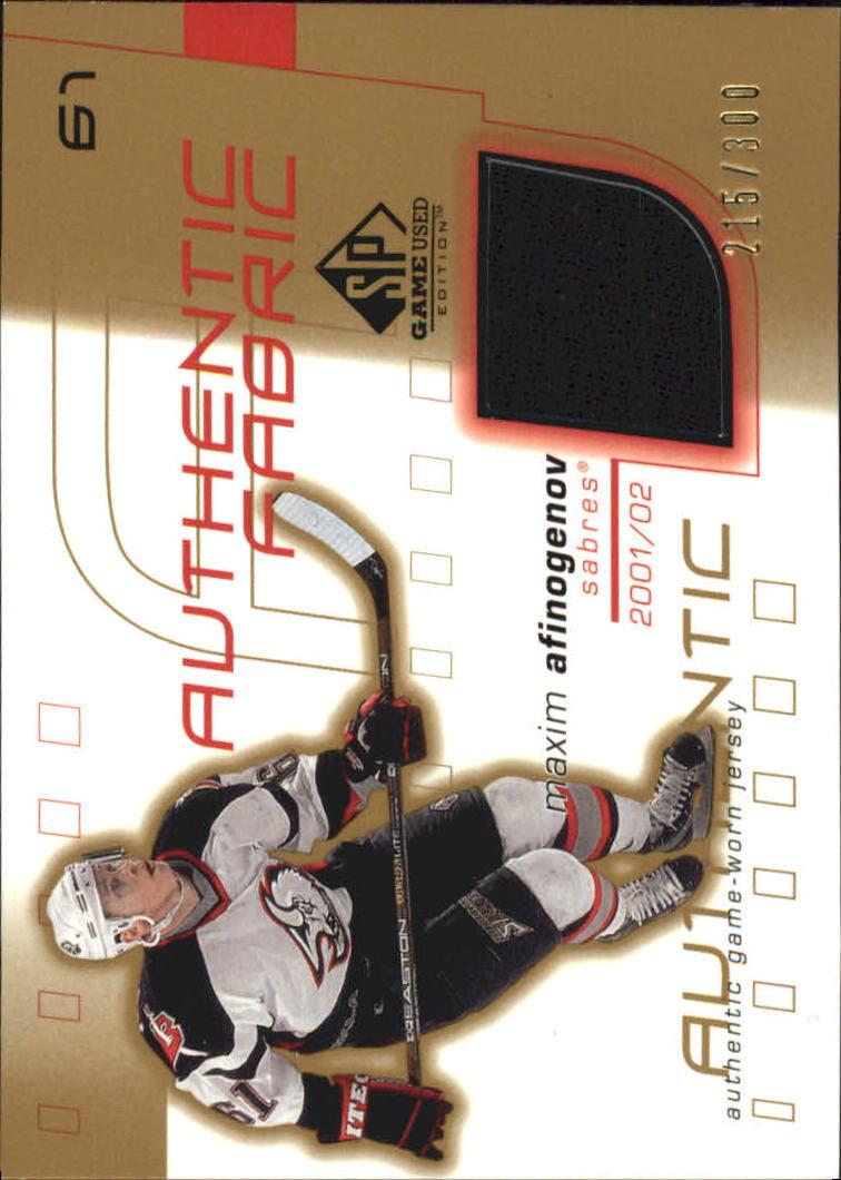 2001-02 SP Game Used Authentic Fabric Gold #AFMA Maxim Afinogenov