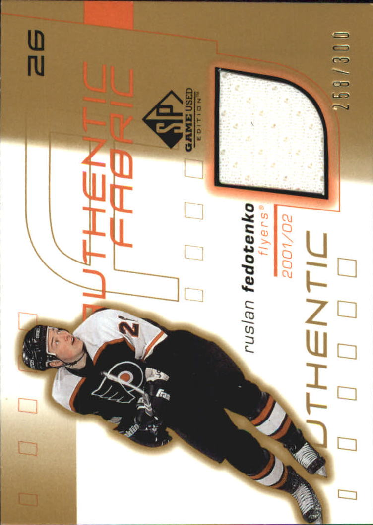 2001-02 SP Game Used Authentic Fabric Gold #AFRF Ruslan Fedotenko