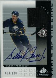 2001-02 SP Game Used Tools of the Game Autographs #STGP Gilbert Perrault
