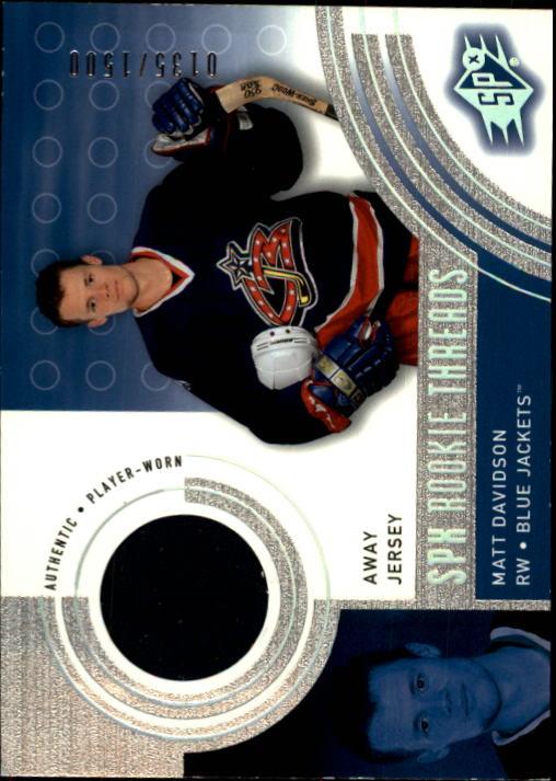 2001-02 SPx #138A Matt Davidson AW/1500 RC