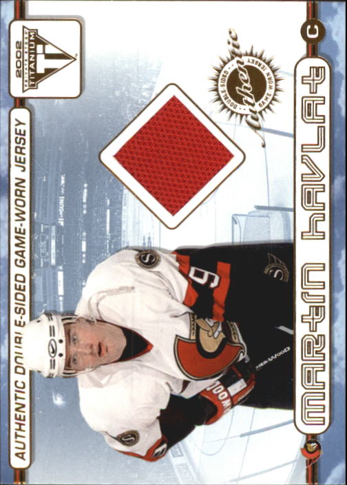 2001-02 Titanium Double-Sided Jerseys #47 Martin Havlat/Marian Hossa