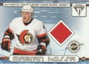 2001-02 Titanium Double-Sided Jerseys #63 Marian Hossa/Jiri Dopita