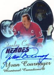 2001-02 Topps Stanley Cup Heroes Autographs #SCHAYC Yvan Cournoyer