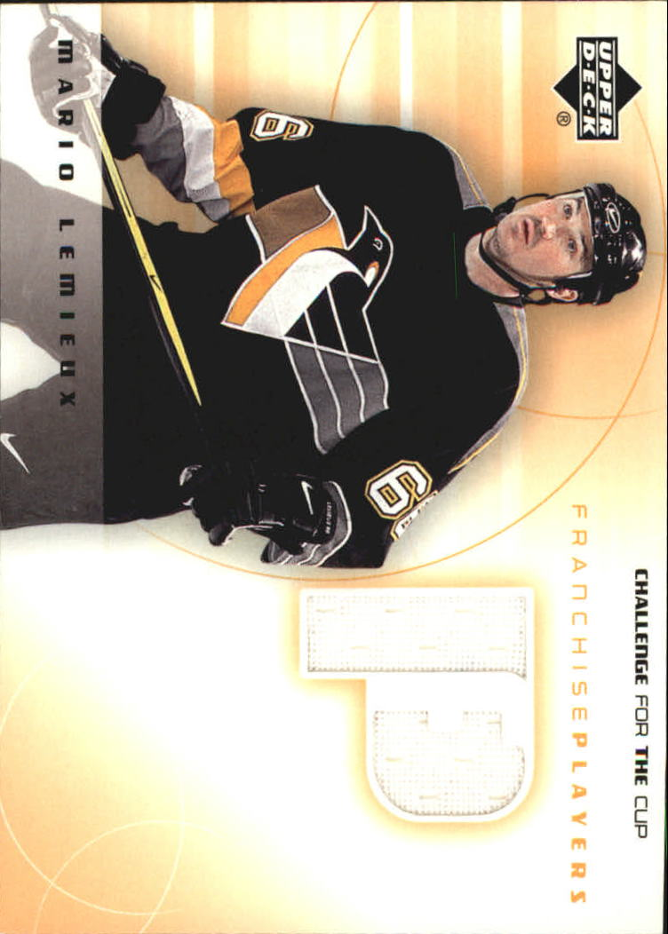 2001-02 UD Challenge for the Cup Jerseys #FPML Mario Lemieux