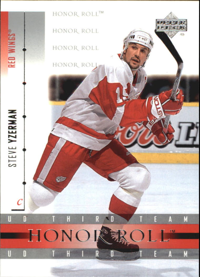 2001-02 Upper Deck Honor Roll #50 Steve Yzerman
