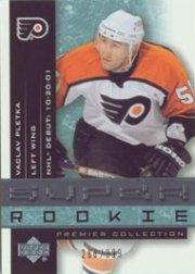 2001-02 UD Premier Collection #77 Vaclav Pletka RC