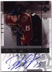 2001-02 UD Premier Collection Signatures #DH Dany Heatley S