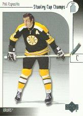 2001-02 UD Stanley Cup Champs #1 Phil Esposito