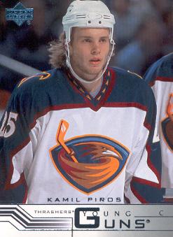 2001-02 Upper Deck #415A Kamil Piros YG RC/(facing forward)