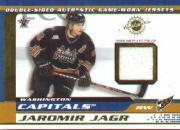 2001-02 Vanguard Memorabilia #33 Jaromir Jagr/Peter Bondra