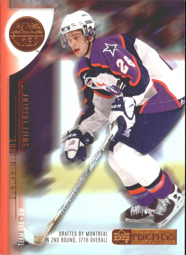 2001-02 UD Prospects #37 Duncan Milroy