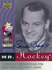 2002 Upper Deck USHL Gordie Howe #1 Gordie Howe AU
