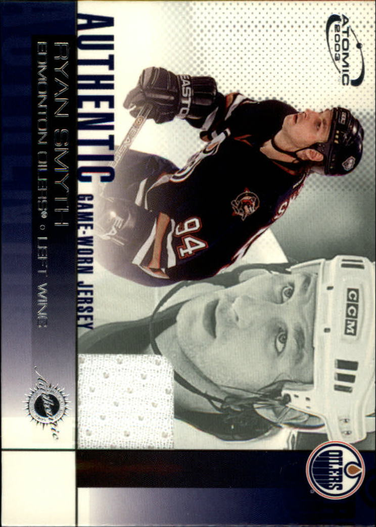 2002-03 Atomic Jerseys #10 Ryan Smyth