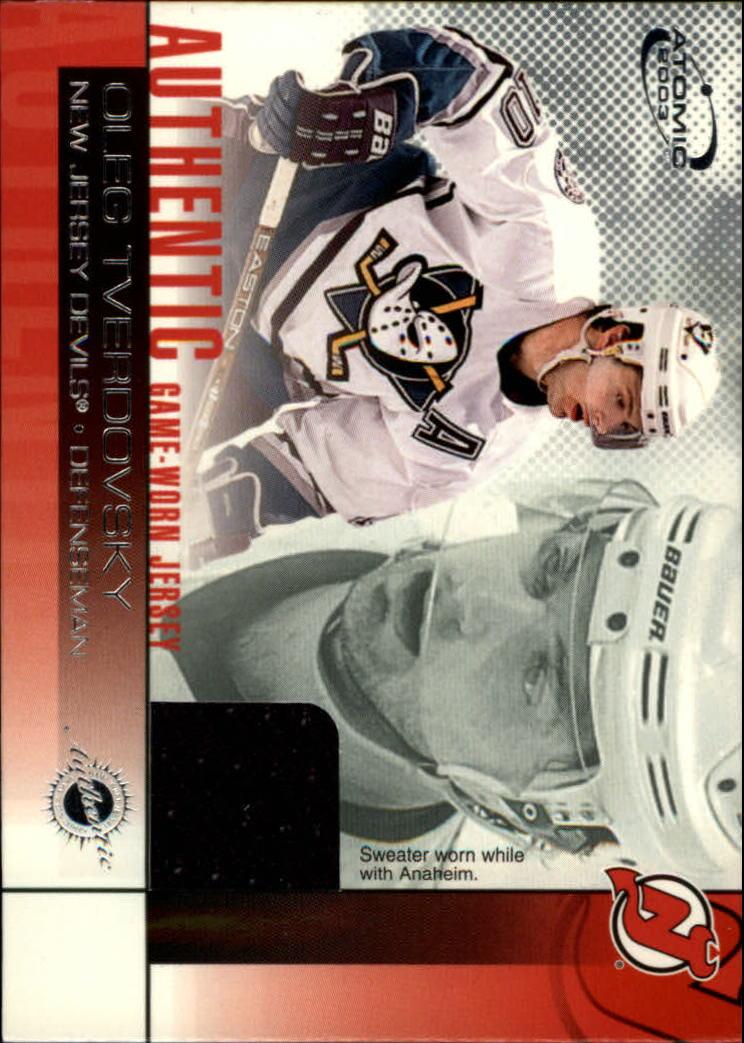 2002-03 Atomic Jerseys #13 Oleg Tverdovsky