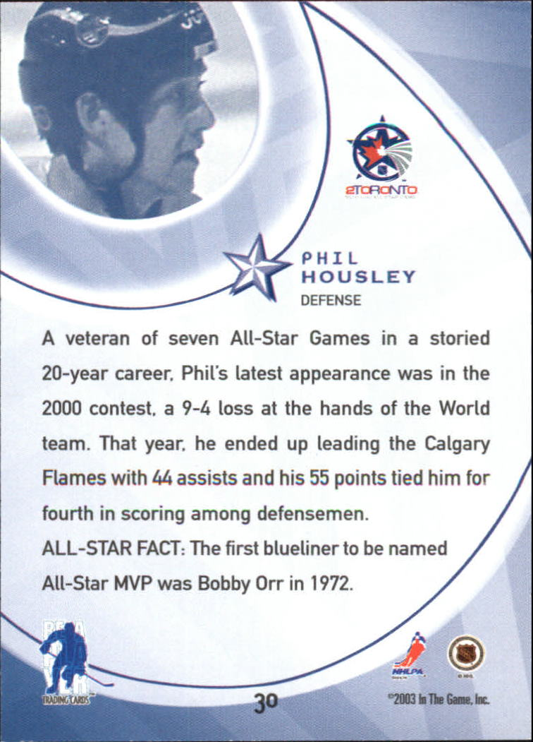 2002-03 BAP All-Star Edition #30 Phil Housley back image