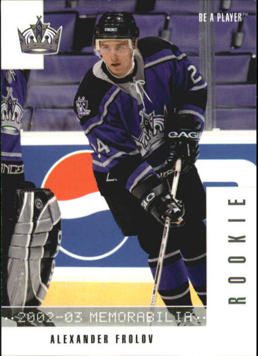 2002-03 BAP Memorabilia #287 Alexander Frolov RC