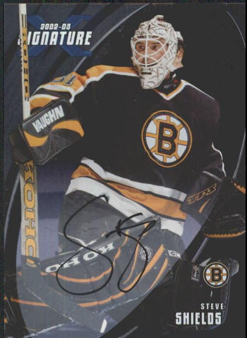 2002-03 BAP Signature Series Autographs #73 Steve Shields